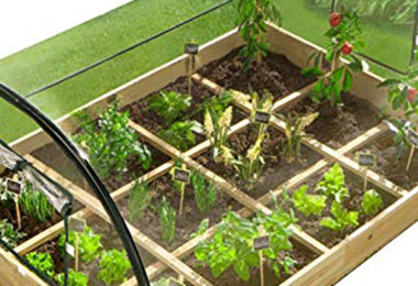 IDMarket - Carré Potager 12 Compartiments