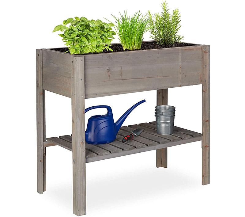 Comparatif carré potager Relaxdays Carré Potager Bois, légume, Herbes, Jardin, Balcon, Jardinière sur Pied
