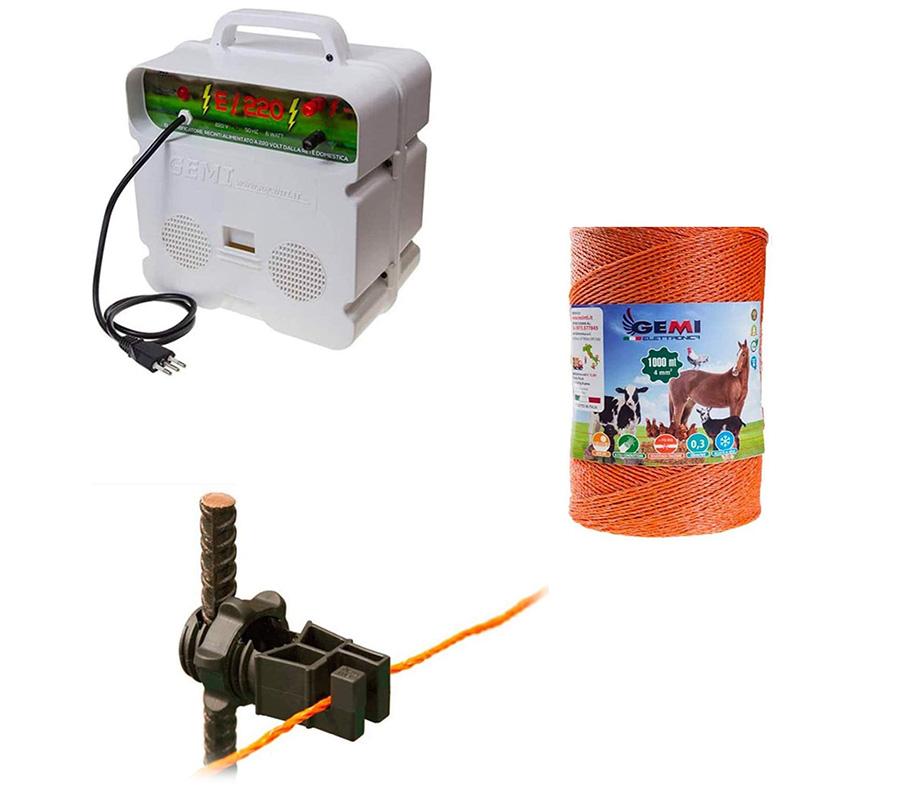 Gemi Elettronica Kit complet pour clôture électrique clôture électrifiée