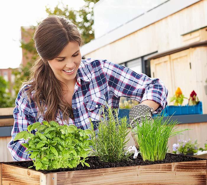 Test Relaxdays Carré Potager, légume, Herbes, Jardin, Balcon, Jardinière sur Pied