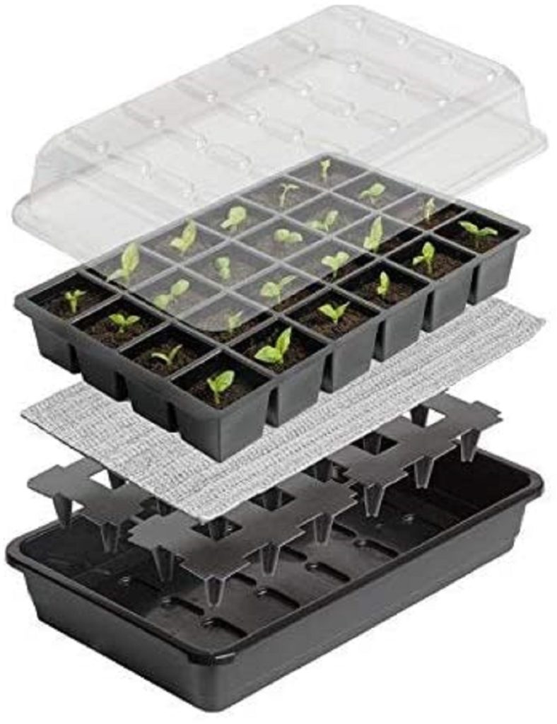 Avis - Britten & James® Kit de démarrage de semences Sure Start. Démarrez parfaitement 24 plantes avec ce système de propagation de...
